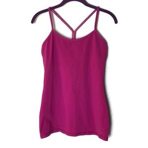 Lululemon Power Y Fuchsia Tank